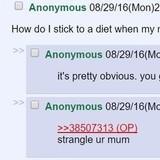 How do I stick to a diet?
